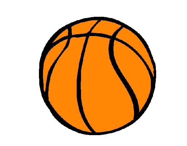 desenho de bola de basquete pintado e colorido por matheus150 o dia