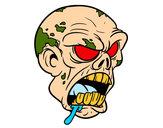 Desenho Cabeça de zombie pintado por csada