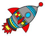 Desenho Foguete espacial pintado por Atchonga