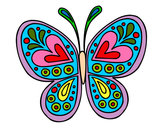 Desenho Mandala borboleta pintado por matheus150