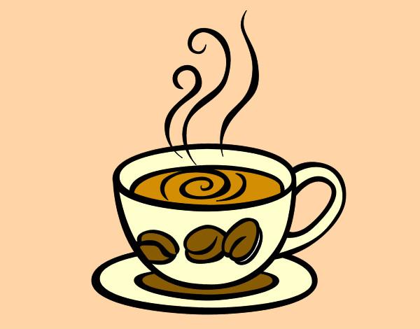 desenho de xicara cafe pintado e colorido por longo o dia 10 de