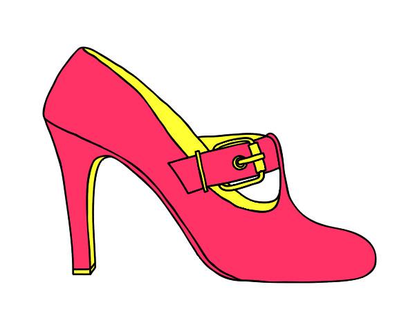 Desenho Sapatos elegantes pintado por manusinha