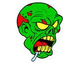 Desenho Cabeça de zombie pintado por REXY