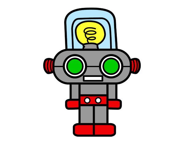 Desenho Robô com luz pintado por REXY