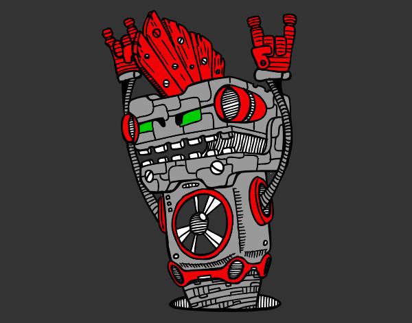 Desenho Robô Rock and roll pintado por REXY