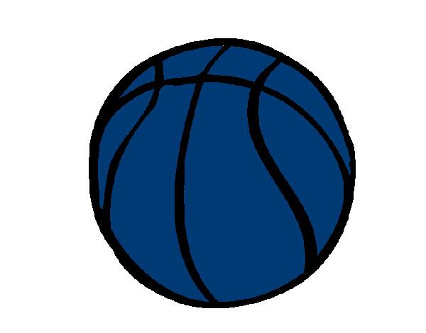 desenho de bola de basquete pintado e colorido por leorodri o dia 11