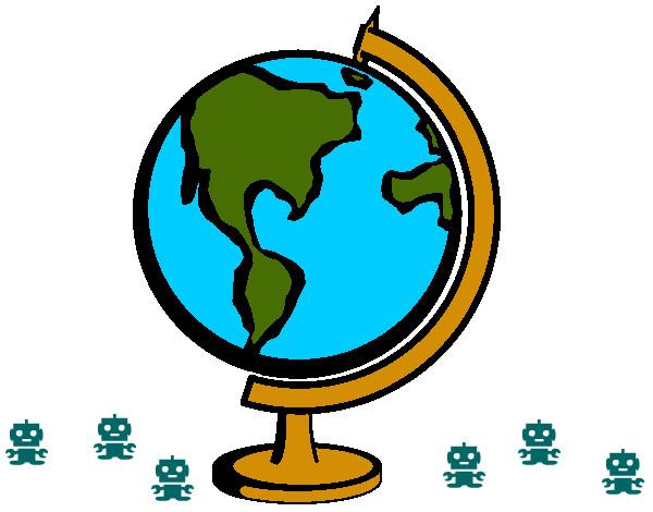 Desenho de Planeta pintado e colorido por Megavini o dia