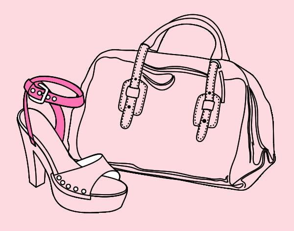 desenho de mala rosa pintado e colorido por beocas o dia 14 de