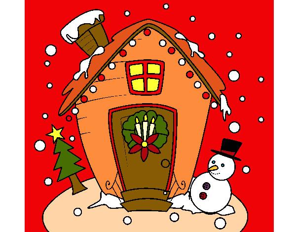 Desenho De Cartão De Natal Pintado E Colorido Por Abirelag O