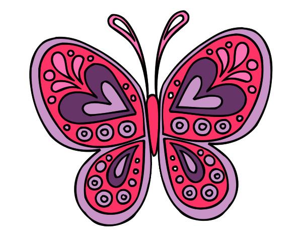 Desenho Mandala borboleta pintado por duda30
