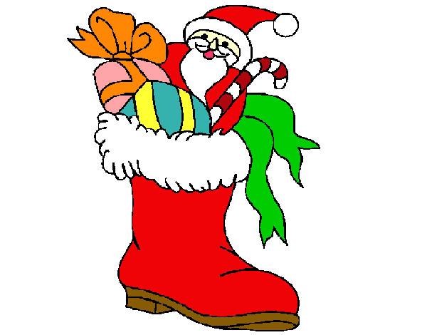 Desenho De Papai Noel Colorido Pintado E Colorido Por