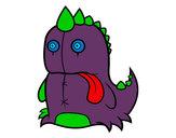 Desenho Dinossauro monstruoso pintado por Dianninha