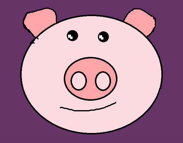 desenho de porquinho pink pintado e colorido por samaracgs o dia 21
