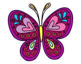 Desenho Mandala borboleta pintado por Lixe