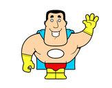 Desenho Saudação de super-heróis pintado por Lipe-boy