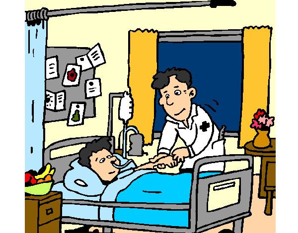 Resultado de imagem para imagens de pacientes hospitalizados desenhos