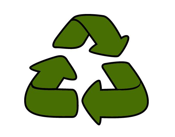 desenho de reciclagem pintado e colorido por mduda o dia 01 de março