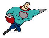 Desenho Super herói enorme pintado por lucasgta