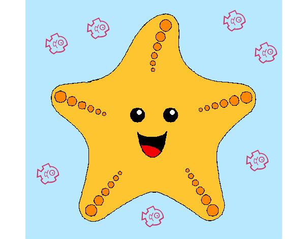 Desenhos De Estrelas-do-mar Para Colorir