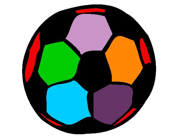 De bola de futebol pintado e colorido por elisadiog o dia 04 de
