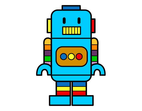 Desenho Robô alto pintado por andre10