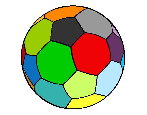 desenho de bola de futebol ii pintado e colorido por mateusmazu o