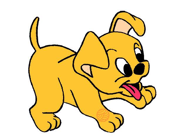 desenho de cachorro pintado e colorido por ssica o dia 28 de maio do