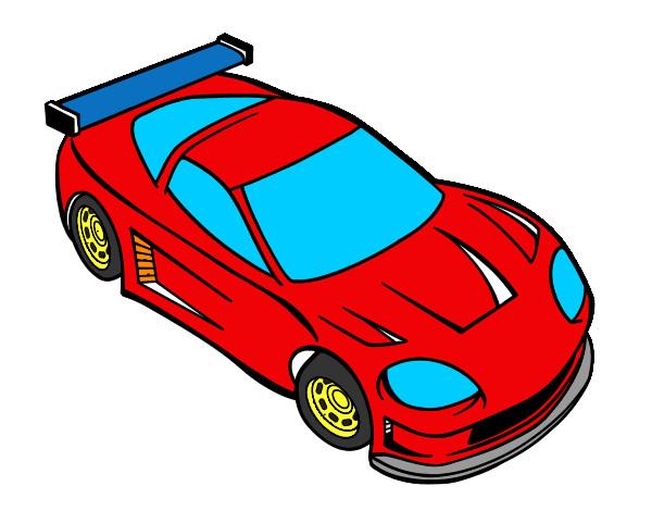Desenho De Carro Moderno Pintado E Colorido Por Lelipe O Dia