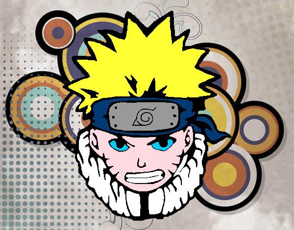 Naruto Colorido ~ Desenho de Naruto enfurecido pintado e colorido por Lady o dia 28 de Julho do 2013
