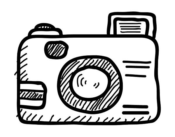 Muitas vezes Desenho de Câmera reflex pintado e colorido por Cass o dia 07 de  JD48