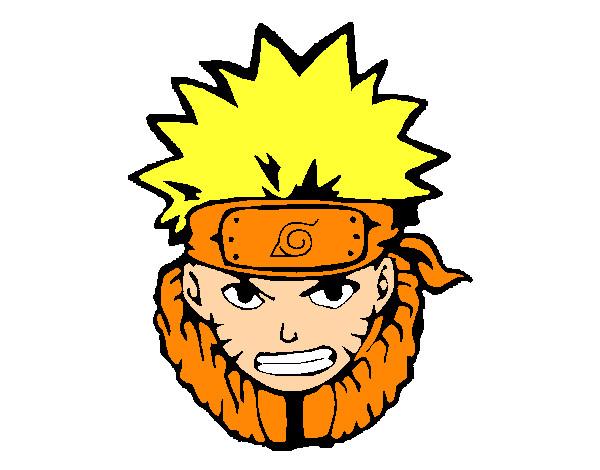 Naruto Colorido ~ Desenho de Naruto enfurecido pintado e colorido por Walison o dia 15 de Setembro do 2013