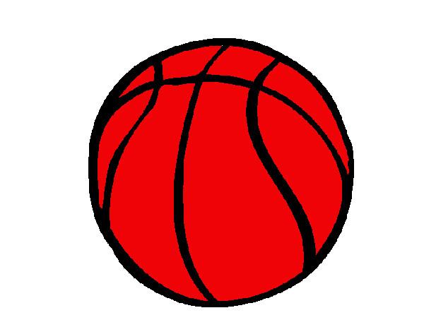 desenho de bola de basquete pintado e colorido por janeob p o dia 21