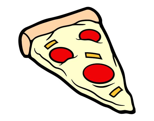 desenho de pizza deliciosa pintado e colorido por renataly o dia 06