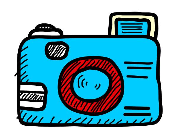Famosos Desenho de Câmera reflex pintado e colorido por Ruda o dia 26 de  GO43
