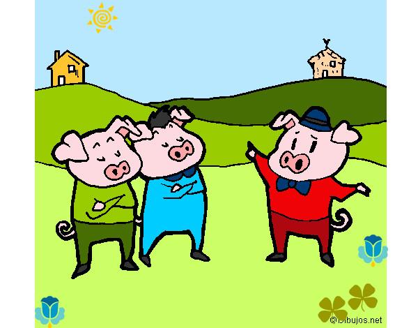 Desenho De Os Três Porquinhos 5 Pintado E Colorido Por