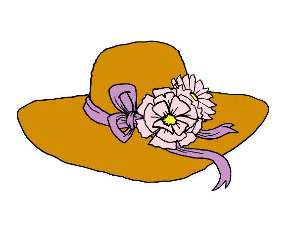 Desenho de Chapéu por flores pintado e colorido por Carolyna o dia 07 de  Junho do 2014 1520bd17207