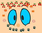 Desenho Olhos humanos pintado por Migas