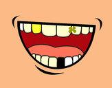 Desenho Boca pintado por ImShampoo