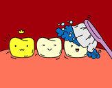 Desenho Os dentes pintado por ImShampoo