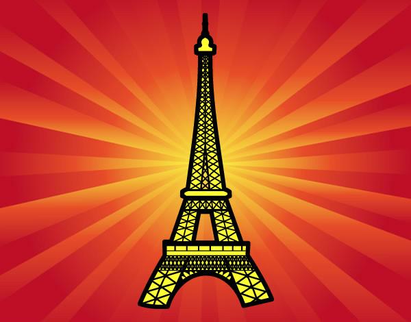 Desenho De Torre Eiffel Pintado E Colorido Por Dado O Dia