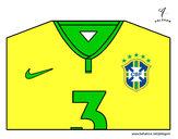 Desenho Camisa da copa do mundo de futebol 2014 do Brasil pintado por Fuleco