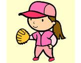 Desenho Jogadora de basebol pintado por Rafaella12