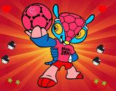 Desenho Mascote Fuleco pintado por deafachett