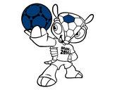 Desenho Mascote Fuleco pintado por jeniva