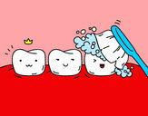 Desenho Os dentes pintado por Dundun