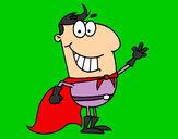 Desenho Super herói pequeno pintado por juliarsr