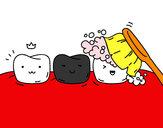 Desenho Os dentes pintado por FelipeH