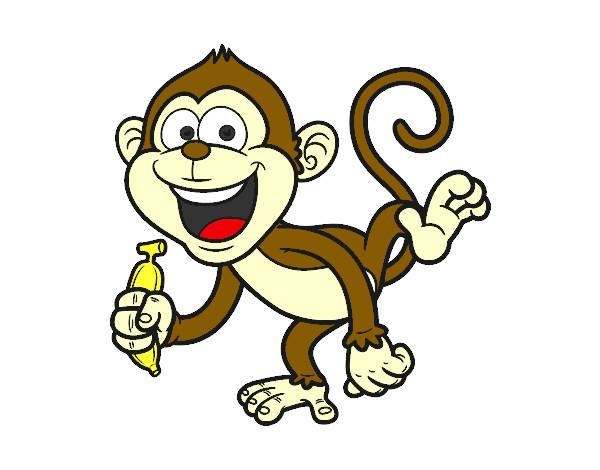 Desenho De Macaco-prego Pintado E Colorido Por Glni O Dia