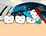 Desenho Os dentes pintado por wanor