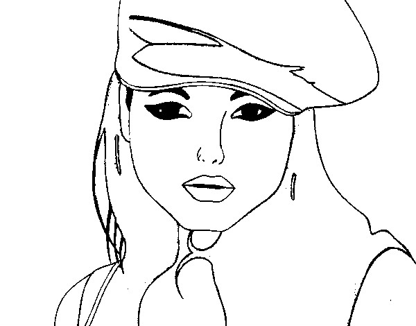 Desenho De Menina Com Boina Pintado E Colorido Por Elzzadi